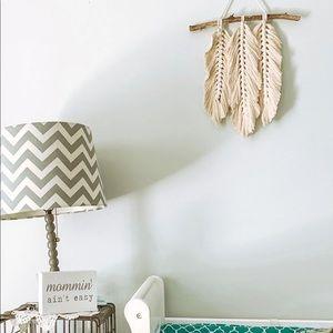 Handmade Feather Macrame Wall Hanging